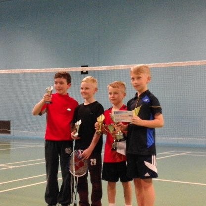 u11 boys doubles winners and r up