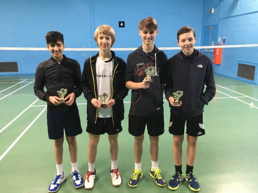 U18 Boys Doubles Winners & Runners Up