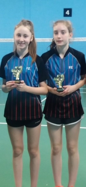 U18 Girls Doubles Winners